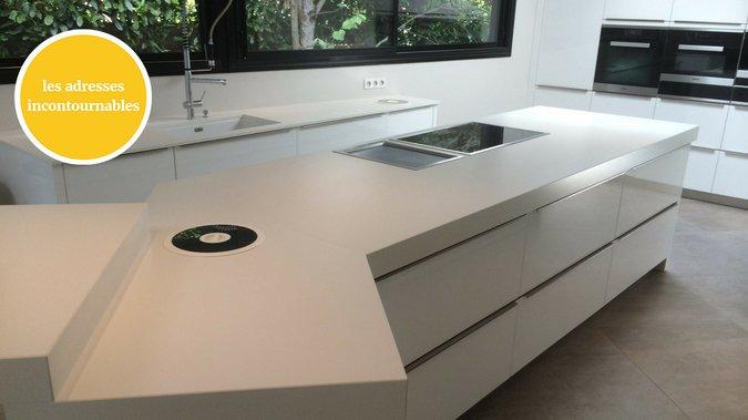 Pose Plan De Travail Cuisine En Granit Gironde 33 - Hm Deco