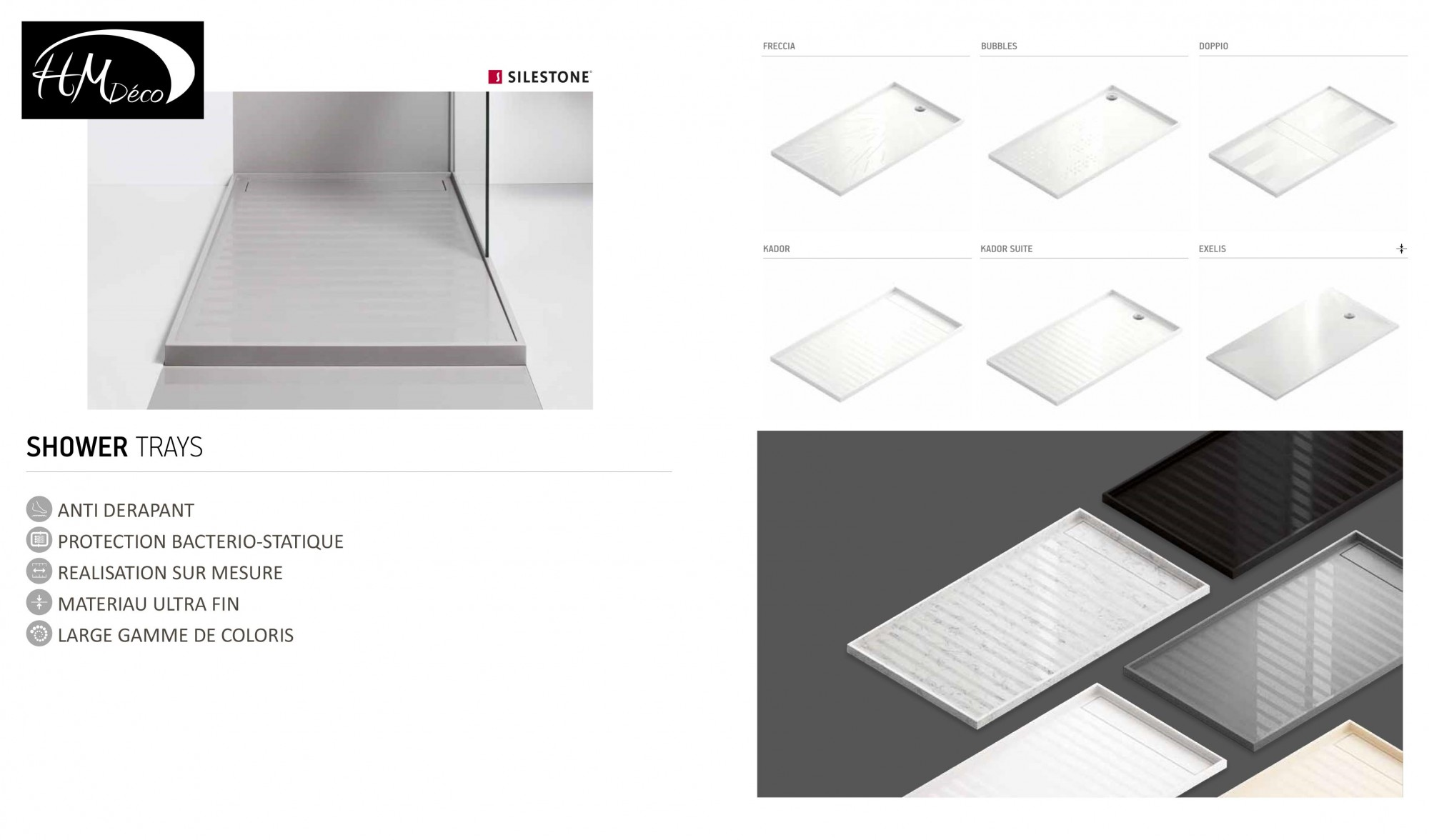 choix de receveurs de douche design 33