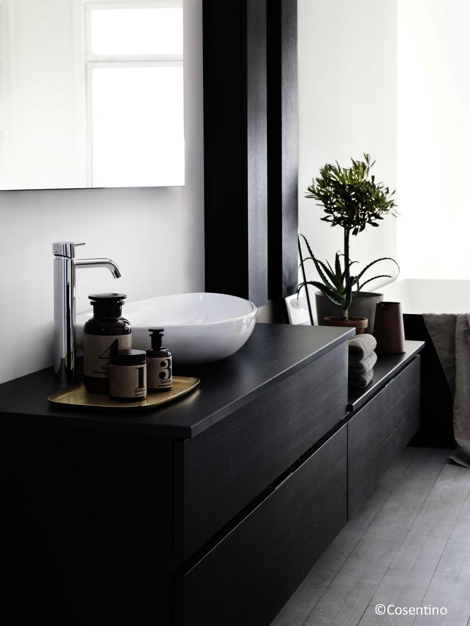 plan de travail 33 salle de bain en pierre noire