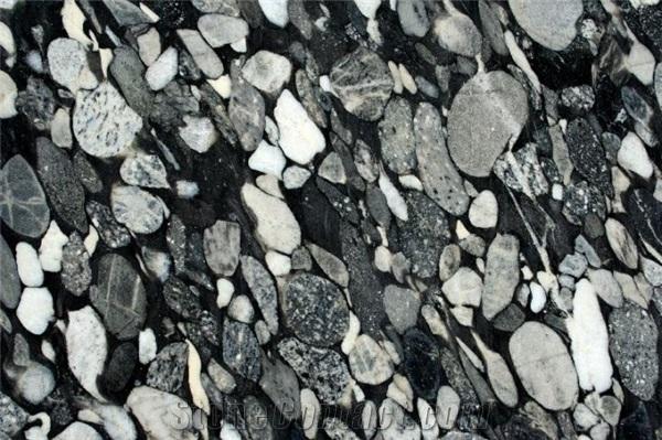 granit black mosaic en aquitaine