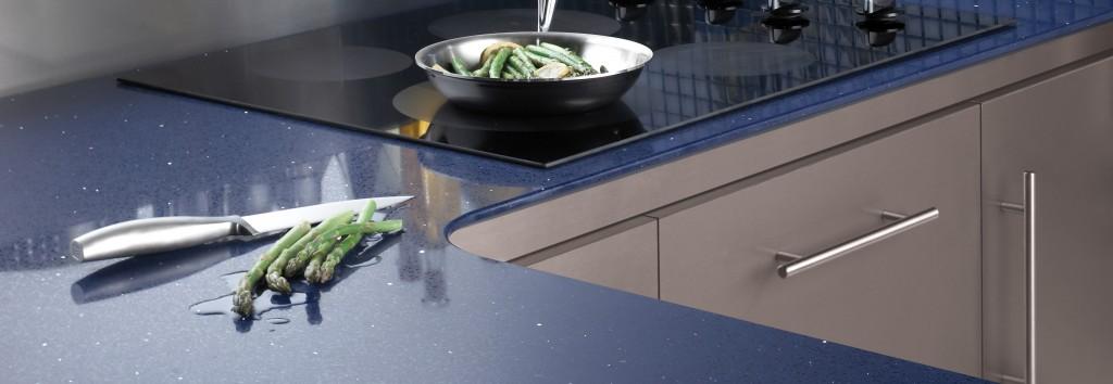 cuisine en quartz bleu de qualité 33