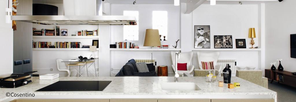 cuisine en quartz blanco orion 33