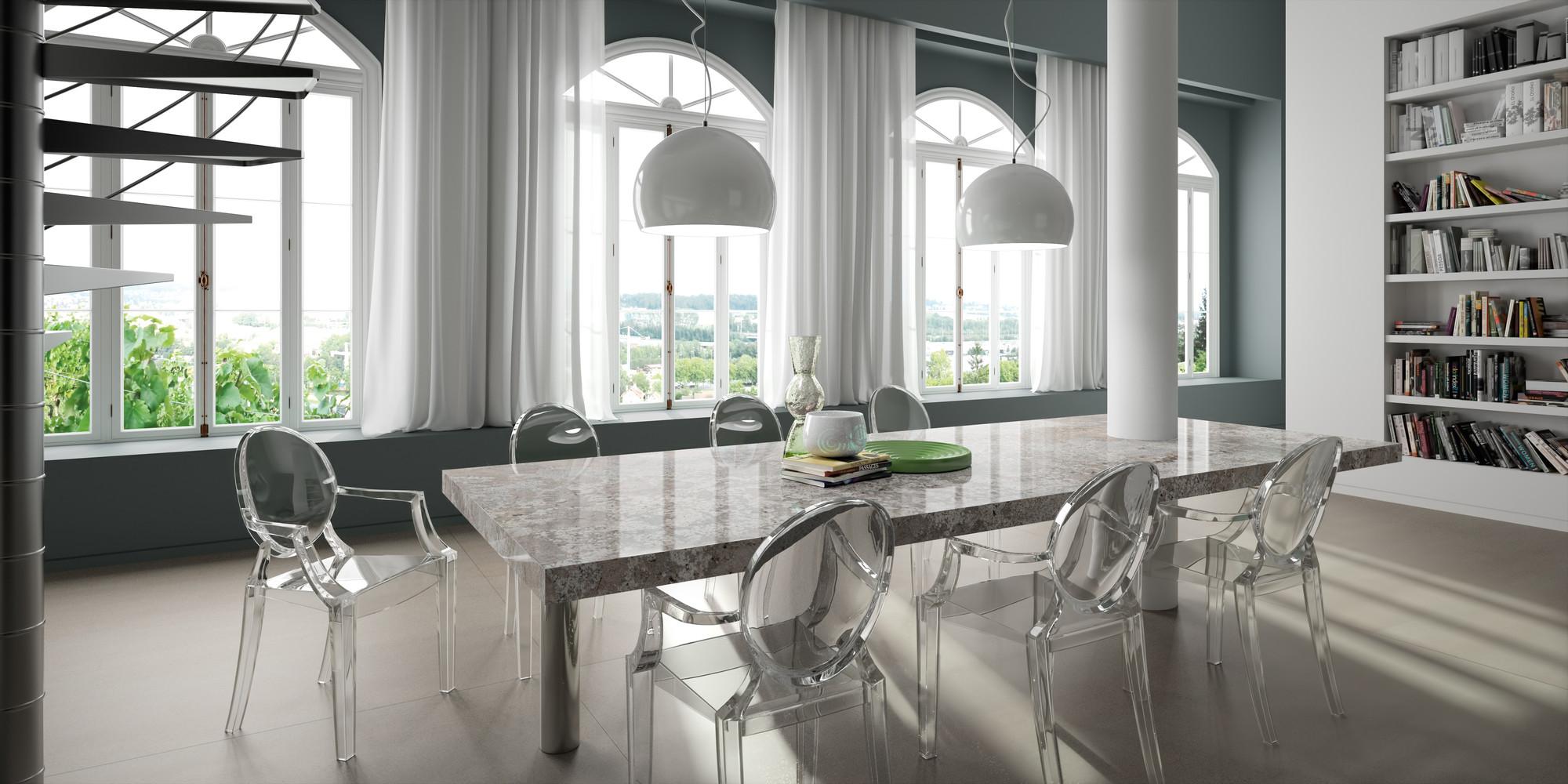 table en granit sensa bianco antico à bordeaux