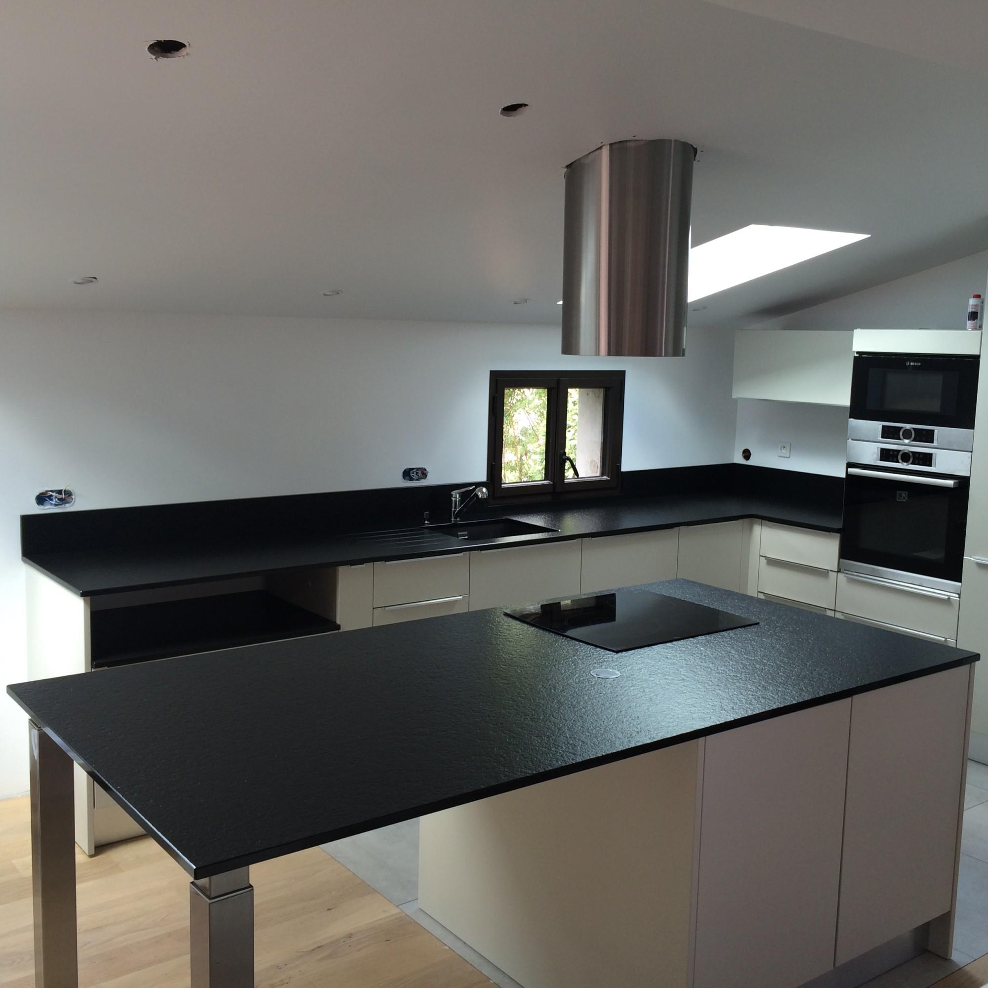 Cheap plan de travail de cuisine bordeaux granit noir for Paillasse cuisine granit