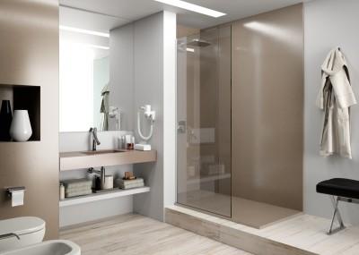 plan de travail de salle de bain solide bordeaux
