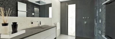salle de bain en quartz istmo biganos