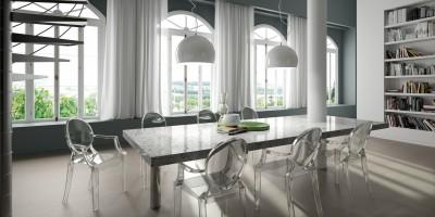 TABLE EN GRANIT BLANC MOUCHETE SUR LE BASSIN D'ARCACHON 33