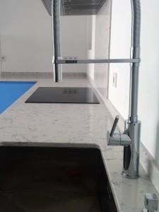 QUARTZ LYRA - Réalisation de cuisine avec du quartz Lyra à bordeaux